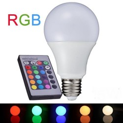 LED lamp 10W E27  RGB+ pult